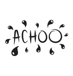 Emoji says achoo sneezes his snots or blows his vector