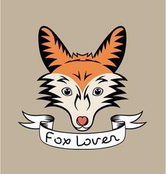 Fox lover vector