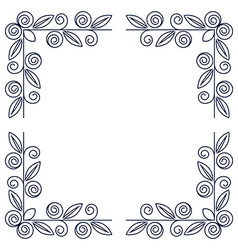 Frame with rose flowers vector image