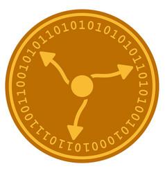 Gamma quants digital coin vector