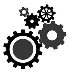 gears industrial abstract background vector image