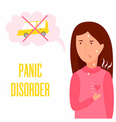 Girl having panic attack health problem vector
