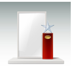 Glass star trophy vector