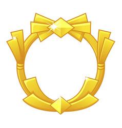 Gold game frame award avatar round template vector