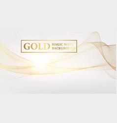 Golden magic wave background vector