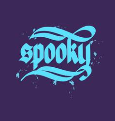 Halloween typographical concept vector