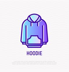 Hoodie thin line icon modern vector