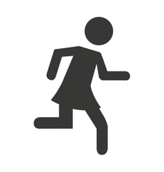human figure person running vector image