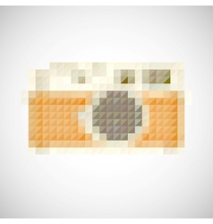Icon Retro camera with manual lens vector