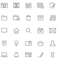 Icons in line style vector