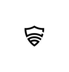 Initial c and 6 with shield logo design concept vector