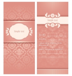 Invitation template vector image