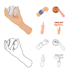 Isolated object animated and thumb symbol set vector