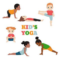 Kids doing yoga kids doing yoga vector
