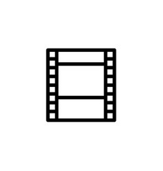line filmstrip video icon on white background vector image