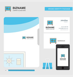 locker business logo file cover visiting card and vector image