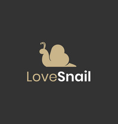 love snail logo design inspiration vector image