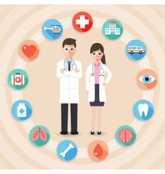 medical and hospital icons vector image