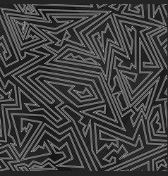 monochrome simple tribal pattern vector image
