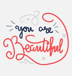 Motivation and Beauty Lettering Concept vector image