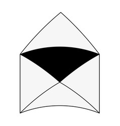 Open message envelope icon image vector