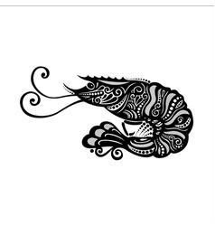 Ornate Sea Shrimp vector image