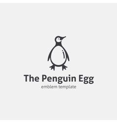 Penguin Egg Concept Symbol Icon or Logo Template vector