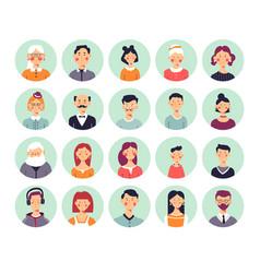 People avatars genealogical family tree elements vector