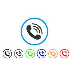 phone ring rounded icon vector image
