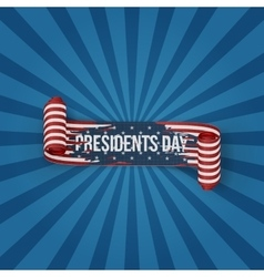 Presidents Day realistic curved textile Ribbon vector