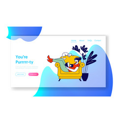 reading books hobwebsite landing page young vector image
