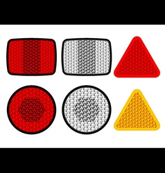 safety reflectors red white orange vector image