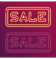 Sale glowing neon sign vector image