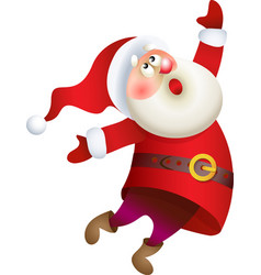 Santa Claus singing Christmas song vector image