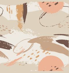 seamless pattern templates with abstract shapes in vector image