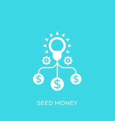 Seed money funding icon vector