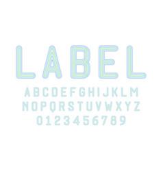 Set alphabets font modern design with lines vector