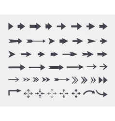set of different arrows isolated on white backgrou vector image
