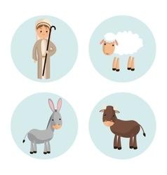 Shepherd icon Merry Christmas design vector image