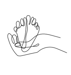 Sign adult parents hand holding child heels vector