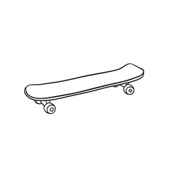 skate board vintage sketch icon vector image