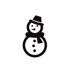 snowman icon design template isolated vector image