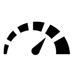 Speedometer icon black color flat style simple vector