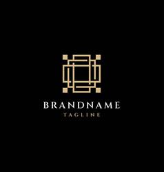 square logo design vector image