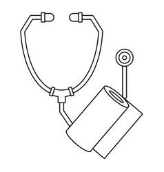 stethoscope bandage icon outline style vector image