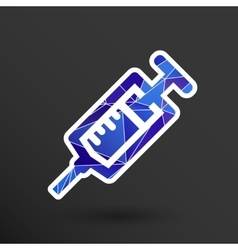 Syringe icon isolated disposable white vector image