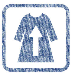 Take off female dress fabric textured icon vector