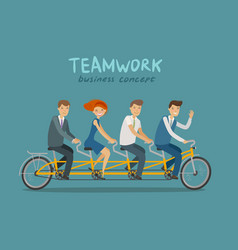 teamwork business concept business people or vector image