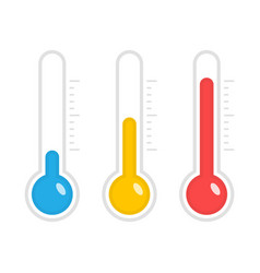temperature icons vector image