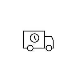 timed delivery truck vector image